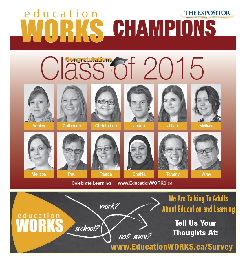 Class of 2015 Education WORKS Champions